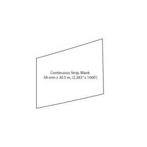 CONTINUOUS STRIP BLANK LABEL